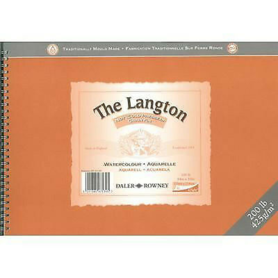 Daler Rowney Langton Watercolour Spiral Pad - 200lb / 425gsm - NOT - 16  X 12   • 42.99£