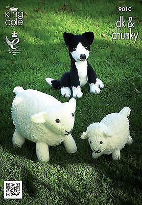 £3.89 • Buy King Cole 9010 Knitting Pattern Sheep, Lamb And Sheepdog Toys In Chunky & DK