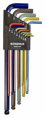 $ CDN35.08 • Buy Bondhus 69637 Ball End L-Wrench Set, ColorGuard Finish Extra Long Arm, 13 Piece