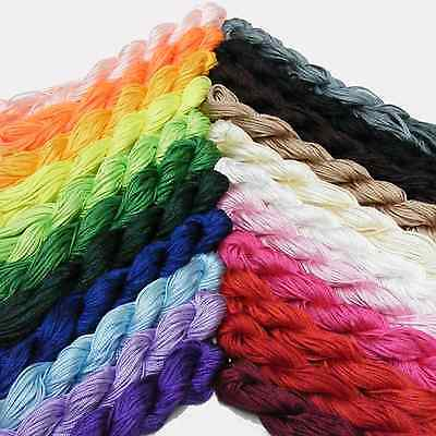 Kumihimo Satin Nylon Rattail Cord - 1mm Nylon Thread - 24Mtrs Skeins - New In!! • 1.99£