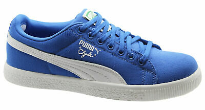 Puma Clyde X UNDEFEATED Canvas Mens Blue Trainers 352768 03 B66C • 29.99£