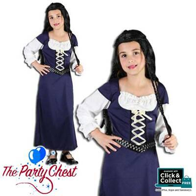 $9.66 • Buy GIRLS MAID MARION COSTUME Gothic Princess Medieval Kids Fancy Dress Outfit CC904