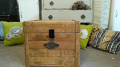 £89 • Buy Rustic Wooden Chest Trunk Blanket Box Antique Style Coffee Table GWR TV Stand