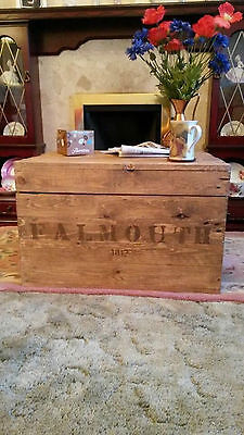 £99 • Buy Wooden Chest Trunk Blanket Box Coffee Table Vintage Style TV Stand Rustic