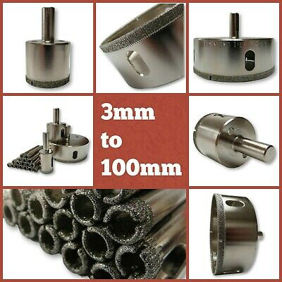 £3.87 • Buy 8 To 100mm Diamond Tipped Drill Tile Hole Cutters Heavy Duty Wall & Floor Tiles