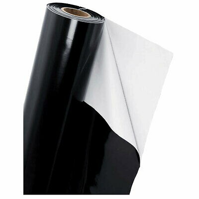 £19.95 • Buy BLACK  WHITE Mylar Reflective Sheeting Film Roll Hydroponic Grow Room ALL SIZES