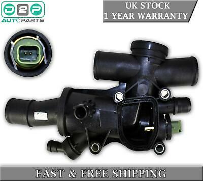 Thermostat With Housing + Sensor For Ford Galaxy Kuga Mondeo Mk4 S-max 2.0 Tdci • 25.99£