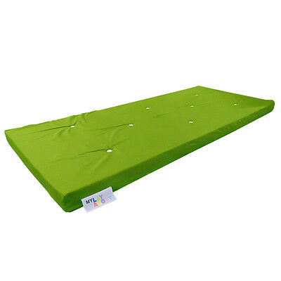 £59.99 • Buy Memory Foam Futon Mattress | Roll Out/Fold Up Guest Bed | Lime | 190cm X 75cm
