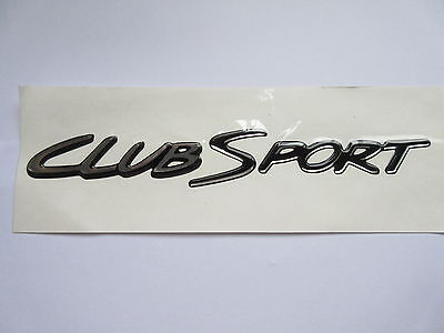 AU55 • Buy Hsv Vs Clubsport S2 Boot Lid 'clubsport' Badge Decal Black & Chrome Genuine Hsv