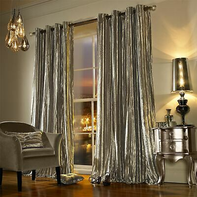 Iliana Praline Lined Velvet Ring Top Curtains Drapes *5 Sizes* • 79.20£