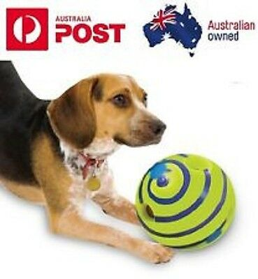 AU19.95 • Buy Wobble Wag Giggle Ball Dog Doggy Indoor Outdoor Pet Toy Rolling Shaken W Sound
