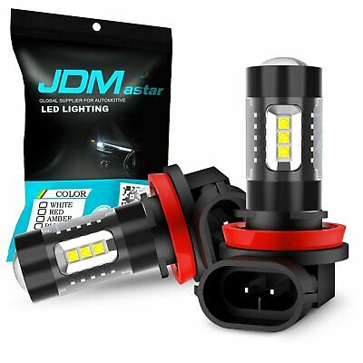 $29.99 • Buy JDM ASTAR 80W H11 2000lm White LED Foglight With Projector Kit Super Bright DRL