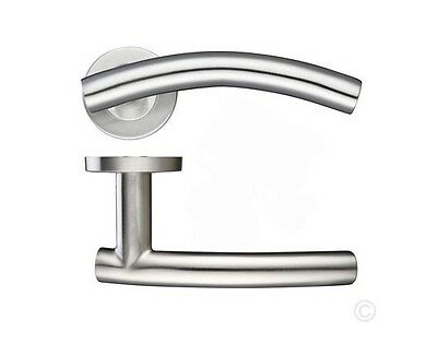 Arched Lever On Rose Interior Door Handle Sets Of 1-20 Stainless Steel  • 8.99£