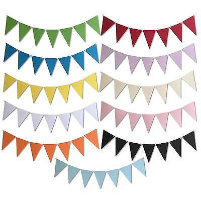 4m / 13ft Party Bunting, Many Colours, Wedding, DIY Kids Crafts Banner Garland • 3.99£