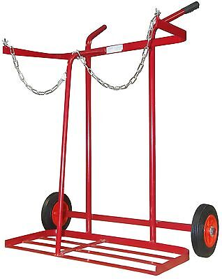 £82.99 • Buy Solid Tyre Twin Oxygen & Propane Cylinder Gas Trolley Full Size