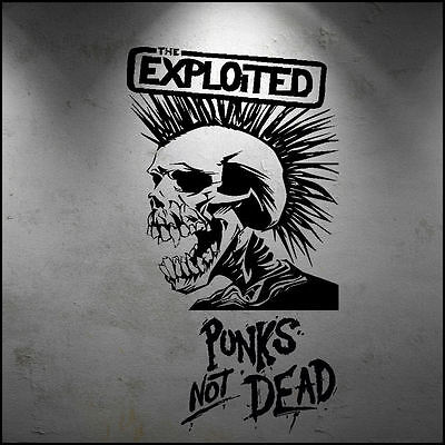 Large Exploited Punk Band Wall Art Sticker Skull Punk Not Dead Transfer Decal • 7.64£