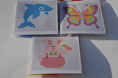 £3.25 • Buy Childrens Cross Stitch Kit - Frame - Template - Wool - Needle - 6 Types