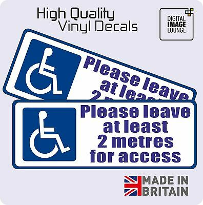 £2.25 • Buy Disabled Sign Disability Mobility Wheelchair Car Parking STICKER / VINYL DECAL