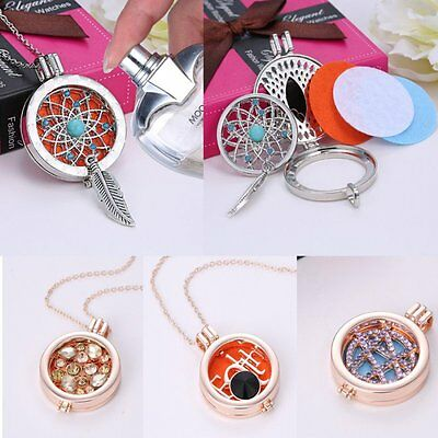 AU2.45 • Buy Oil Diffuser Necklace Coin Fragrance Aromatherapy Locket Pendant New+3pcs Disc