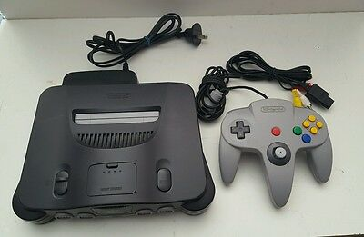 AU279.99 • Buy Nintendo 64 Console With Controller & All Plugs READY TO PLAY N64 FREE POSTAGE!