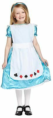 Alice In Wonderland Girls Childs Fancy Dress Costume Outfit World Book Day • 8.99£