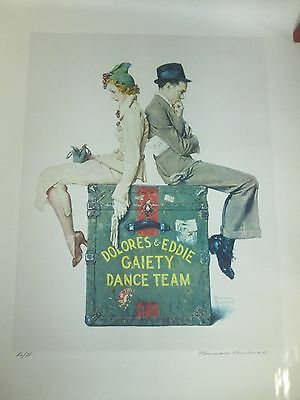 $ CDN1198.73 • Buy Gaiety Dance Team Norman Rockwell Signed A/P Collotype