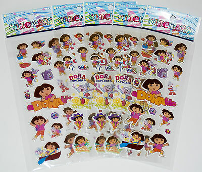 Dora The Explorer Character Stickers,Party Bag Fillers,Gifts,School Stationery, • 1.99£