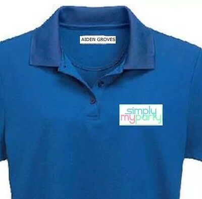 AU8 • Buy 30 X School Name Labels, Iron-on LABELS Personalised Clothes Tags NAME AGED CARE