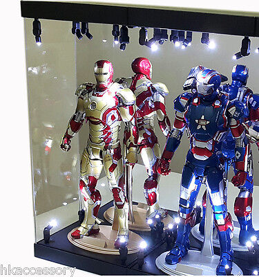 $ CDN179.90 • Buy Acrylic Display Case Light Box For Hot Toys 12  1/6 Scale Marvel Avengers Figure