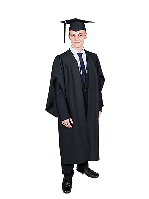 Graduation Gown / Academic Robe And Mortarboard Cap Set (available In 7 Colours) • 17.95£