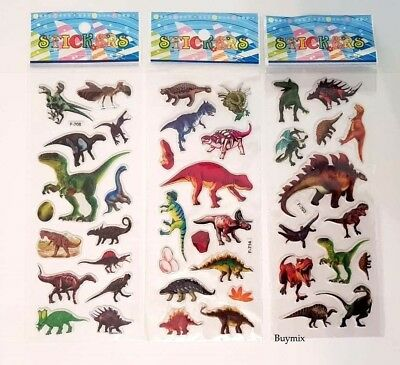 Dinosaur Stickers Children Party Bag Fillers Gifts Crafts School Stationery  • 2.49£