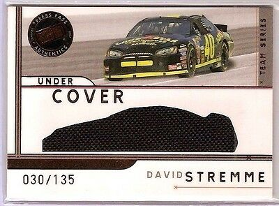 $4.95 • Buy 2007 PRESS PASS ECLIPSE NASCAR David Stremme SP RACE-USED CAR COVER #d 030/135