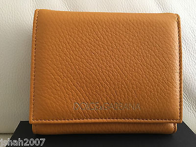 D&G Dolce & Gabbana Yelllow Tan Ladies Purse Wallet BRAND NEW WITH TAGS RRP £250 • 149£
