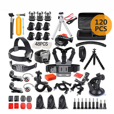 AU27.99 • Buy 120pcs Accessories Pack Case Chest Head Floating Monopod GoPro Hero 7 6 5 4 3+ 2