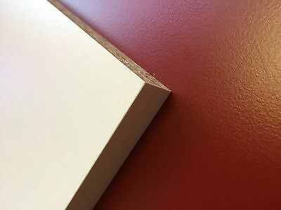 £8.63 • Buy White Textured Melamine Faced Chipboard 18mm Thick Various Width 2795 Long