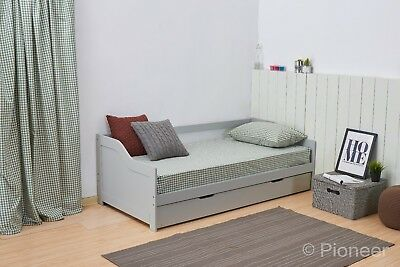 £249.99 • Buy Day Bed Single Bed With Underbed. White 2 Beds In 1 Daybed Trundle Guest Bed 3ft