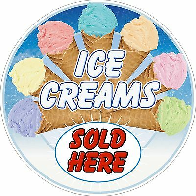 ICE CREAMS Sticker Mix 1 Printed Food Cafe Resturant • 7.50£
