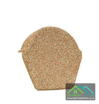Granulated Plastic Lightweight Roof Ridge Tile Endcap Conservatory Outbuild Shed • 7.50£