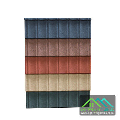 Granulated Lightweight Plastic Roof Tiles Sheets Conservatory Roof Garage Shed  • 11.95£