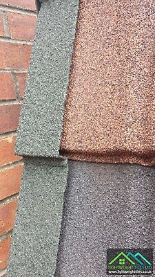 Granulated Lightweight PlasticDry Verge Roof Edging Caps Solid Conservatory Roof • 14.95£