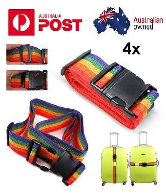 AU14.45 • Buy 4x Travel Packing Luggage Suitcase Secure Safe Strap Tie Belt Accessories