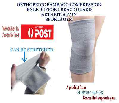 AU12.50 • Buy Orthopedic Bamboo Compression Knee Support Brace Guard Arthritis Pain Sports Gym