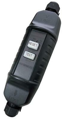 In Line Cable RCD Trip Safety Circuit Breaker IP66 Outdoor Garden Trip Switch • 15.50£