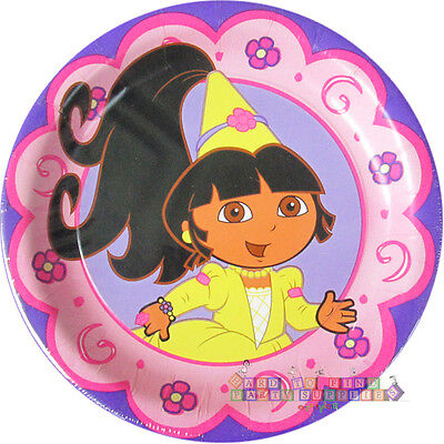 DORA THE EXPLORER Princess SMALL PAPER PLATES (8)~ Birthday Party Supplies Pink • 2.79£