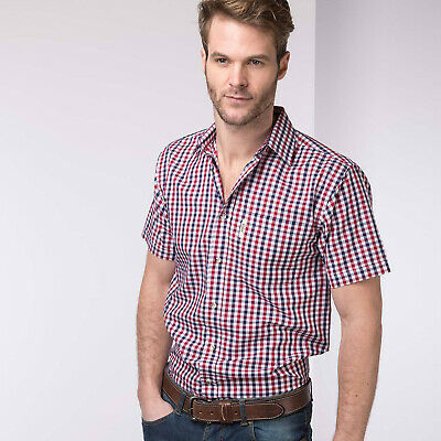 £13.99 • Buy Rydale Short Sleeved Check Shirt Cotton Blend Casual Work Wear Shirts 28 Colours