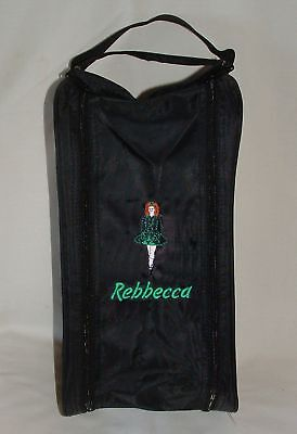 $12.29 • Buy Personalised Irish Celtic Dancer Shoe Bag - Embroidered Female Logo - Any Name