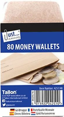 £4.75 • Buy 80 X Small Brown School Wages Salary Cash Dinner Money Wallets Envelopes - 4251