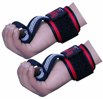 £5.99 • Buy BOOM Weight Lifting Training Gym Straps Hand Bar Wrist Support Gloves Deadlift