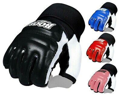 $ CDN11.99 • Buy BOOM Leather Body Combat GEL Gloves MMA Boxing Punch Bag Martial Arts UFC Mitts