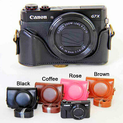 AU15.90 • Buy Leather Camera Case Bag Grip Strap For Canon G7X/G7X Mark II/G7X Mark III